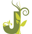 nature j vector image