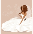 The bride in a white dress vector image