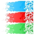 Three floral banners vector image