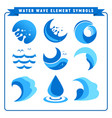water wave element symbols vector image
