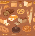 baton bread seamless pattern cartoon vector image