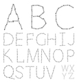 alphabet on a white background Eps10 vector image
