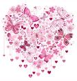 Valentine pink big heart vector image