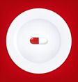 plate and pill vector image