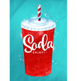 Soda color vector image