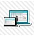 responsive web and infographic vector image