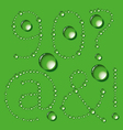 Water Drop Letters On Green New 11 vector image vector image