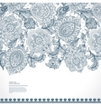 Beautiful Indian floral paisley ornament print vector image