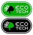 eco tech symbols vector image