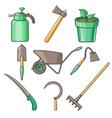 Garden Tools Flat Design vector image
