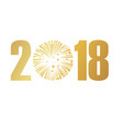 happy new year 2018 white version vector image