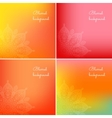 Set of blurred backgrounds vector image