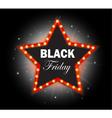 Black Friday Banner shining star retro vector image
