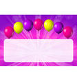 card with shiny balloons vector image vector image