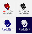 red lion logo design template vector image