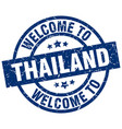 Welcome to thailand blue stamp vector image