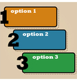 Three options vector image vector image