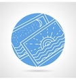 Round icon for vacations photo vector image