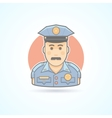 Police officer icon Avatar and person vector image