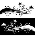 floral decoration black and white variations vector image vector image