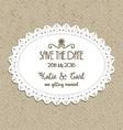 decorative save the date invite 0502 vector image