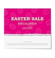 Easter sales with special offers vector image