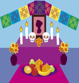 Day of the Dead in Mexico 2 vector image