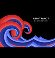 abstract red-blue wave conceptual vector image