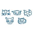 animal sketch vector image