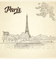 city sketching on vintage background paris vector image
