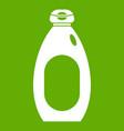 cream bottle icon green vector image