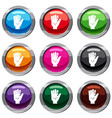 finger with blood dripping set 9 collection vector image