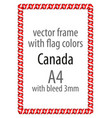 flag v12 canada vector image