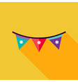 Flat Design Festival Flags Icon vector image