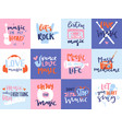 music love motivation lables badges karaoke vector image