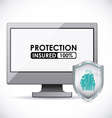 Protection design vector image