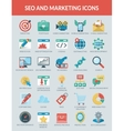 SEO and Marketing icons vector image