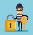 theft identity avatar character vector image