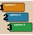Three options vector image