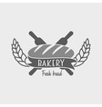 Vintage bakery label badge or logo concept Can be vector image