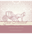 wedding vintage card vector image