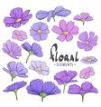 Field of purple flowers vector image vector image