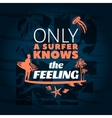 Surfing Blue Poster vector image