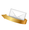 envelope and gold arrow vector image vector image