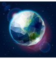 Earth globe as an icon vector image