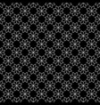 white flower star japanese seamless on black vector image