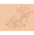 Sketch of Sakura Branch vector image