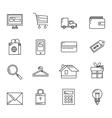 Shopping Basic Icons vector image