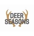 deer antler logo vector image