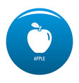 apple icon blue vector image